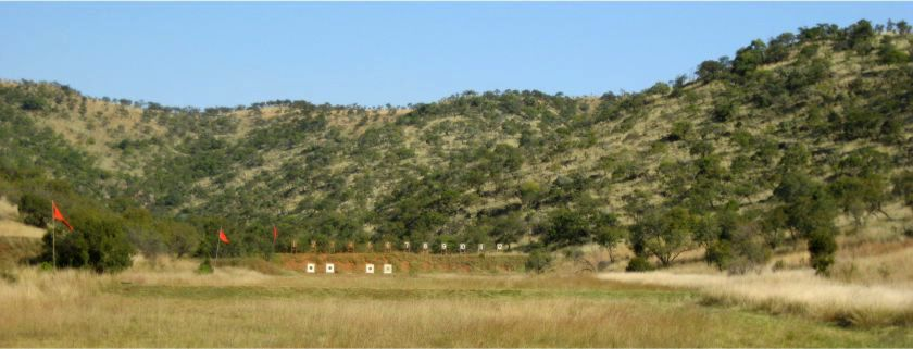 300m target shooting at the Swiss Rifle Club Johannesburg
